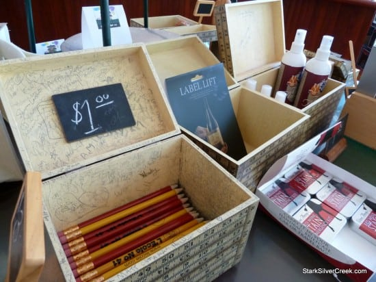 L'Ecole No. 41 winery tasting room chalk pencils, Walla Walla