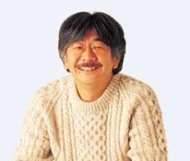 "Composer Nobuo Uematsu: Conservative photo... last night in bandanna, ""Dog Ear"" karate-like shirt"