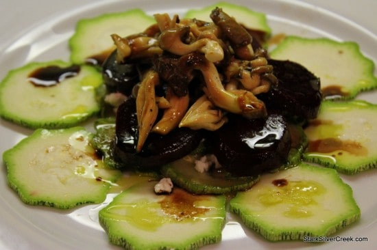 """Before you jet"" oyster mushroom and beet salad recipe"