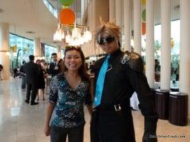 Loni with Final Fantasy fan: Who is wearing better costume?