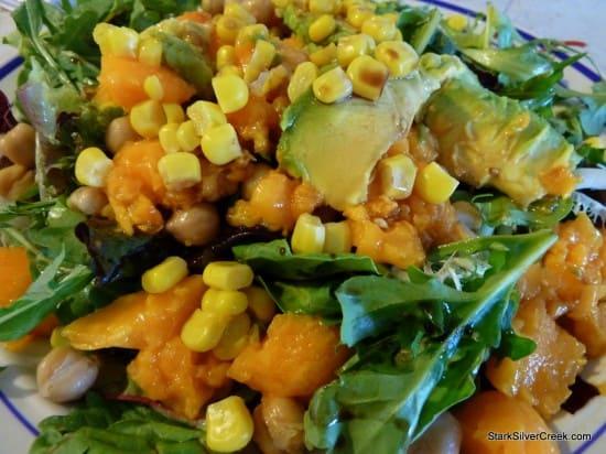 Papaya Avocado Macadamia Nut Salad