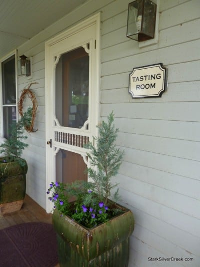 Entrance into the tasting room of Woodward Canyon Winery.
