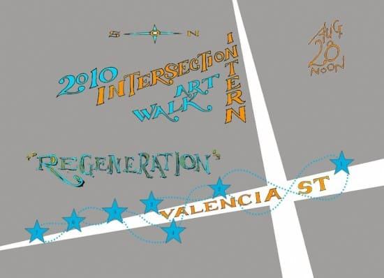 Regeneration: Intersection for the Arts Intern Artwalk 2010