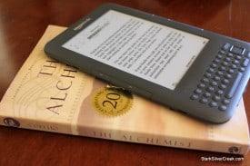Amazon Kindle size comparison with novel