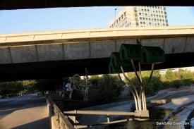 A Floating World awaits underneath Highway 87, downtown San Jose. Photo: Clinton Stark.