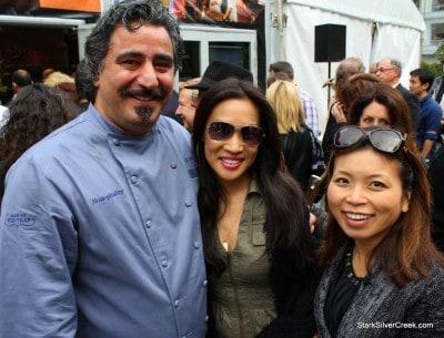 Chef Hoss Zare, Mika and Loni