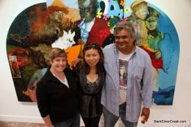 Stephanie Battle (board member), Loni Kao Stark (SSC) and Al Preciado (artist, teacher)