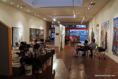 The space will be transformed during the 01SJ Biennial through spacial strategies.