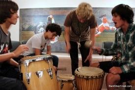 Bang it slowly: Drum circles.