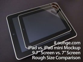 7-inch Apple iPad mockup courtesy iLounge.com