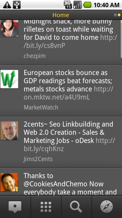 TweetDeck Android time line