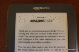 Amazon Kindle 3 Display