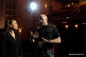 Loni Kao Stark with stage director Brad Dalton