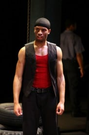 Alex Ubokudo as Elegba in The Brothers Size at Magic Theatre. Written by Tarell Alvin McCraney, directed by Octavio Solis. Photo by Jennifer Reiley.