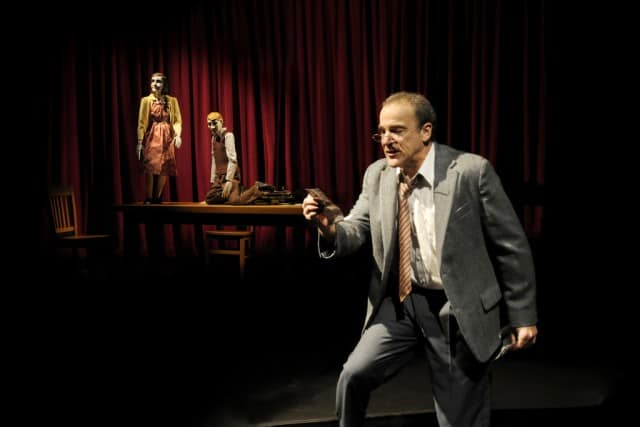 Tony- and Emmy Award-winning actor Mandy Patinkin stars in the world-premiere production of Compulsion at Berkeley Repertory Theatre. Photo courtesy of kevinberne.com