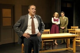 (l to r) Mandy Patinkin, Hannah Cabell and Matte Osian star in the world-premiere production of Compulsion, a compelling new play at Berkeley Repertory Theatre. Photo courtesy of kevinberne.com