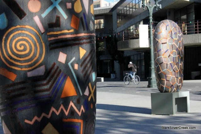 Convergence by Jun Kaneko on Paseo de San Antonio, San Jose