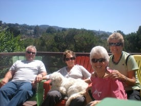 With Peter, Ariel, Charlie and Sharon