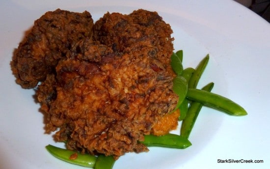 Buttermilk Fried Breast of Chicken with Bourbon Mashed Sweet Potatoes