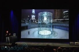 Steve Jobs talks about the new 40ft. glass Apple store in Shanghai, China