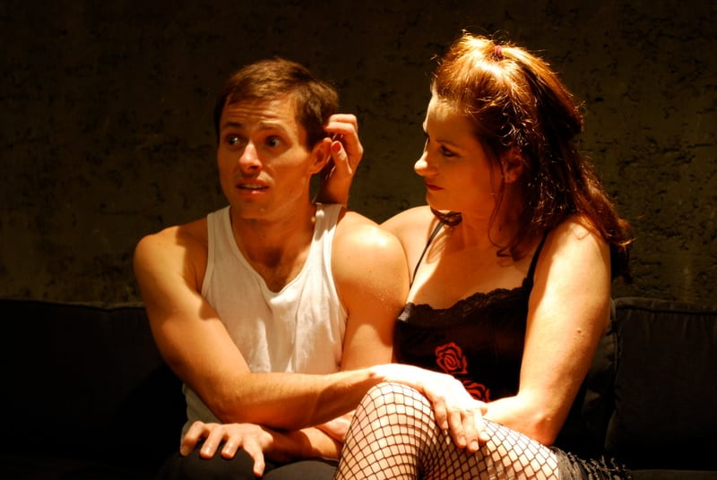 Sally Dana and Danny Krueger in Arousal, one of the Best of the Fringe shows at EXIT Theatre, Oct, 1-2. Photo: George Pfirrmann