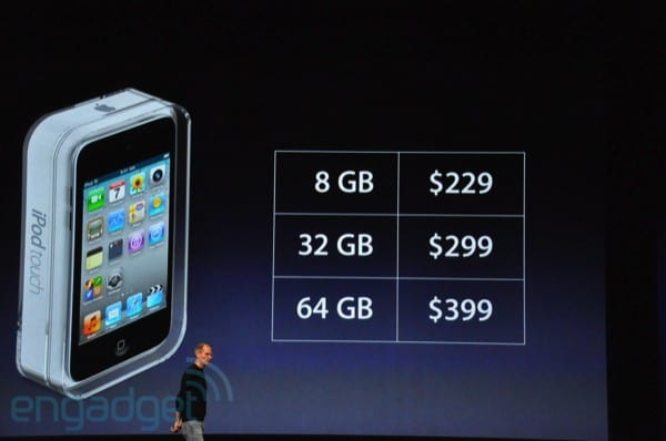 New iPod Touch lineup with Retina display