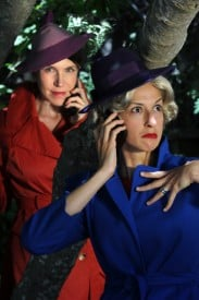 (left to right) Mary Waterfield as Jean, Larissa Garcia as The Other Woman-The Stranger