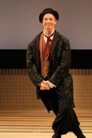 Wily servant Scapin (Bill Irwin) is up to no good. Photo by Kevin Berne.