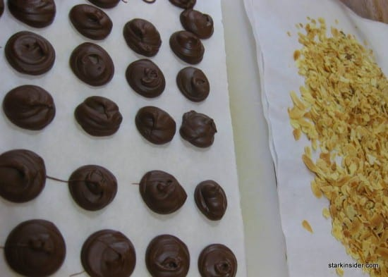 Chocolate making class in Paris.