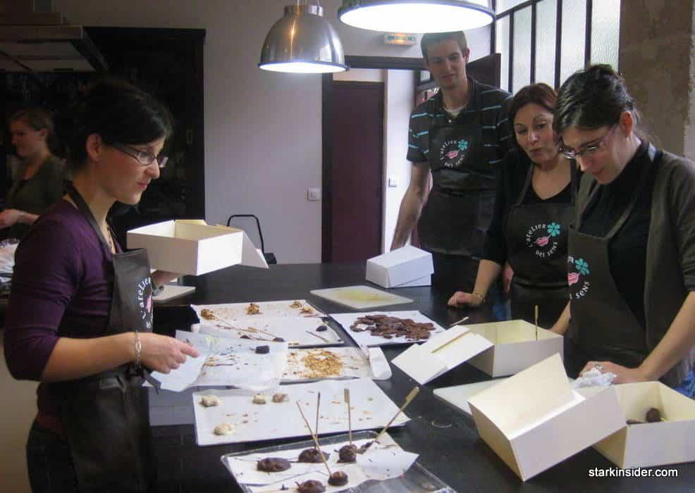 atelier des sens paris chocolate making class 155 stark insider. Black Bedroom Furniture Sets. Home Design Ideas