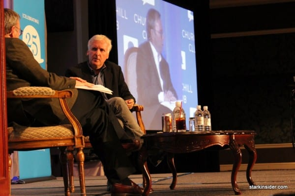 James Cameron in conversation with Google CEO Eric Schmidt