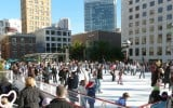 Ice skaters at the 2009 Safeway Holiday Ice Rink in Union Square
