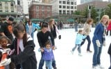Families skating at the 2009 Safeway Holiday Ice Rink in Union Square