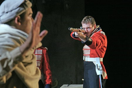 Tom McKay stars in The Great Game: Afghanistan, an epic production from London receiving its West Coast premiere at Berkeley Rep. Photographer: John Haynes