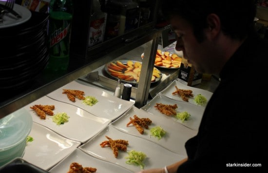 Courses being plated.