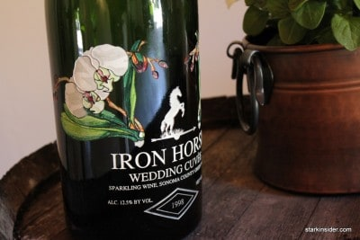 Iron Horse 2006 Wedding Cuvée in a magnum etched glass bottle. Perfect for any wedding party.