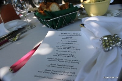 Menu. Many of the dishes were served family style which was most appropriate for the setting and atmosphere.