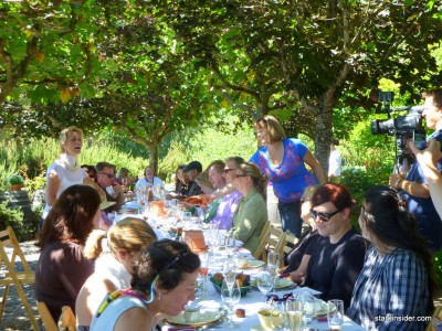 Brunch was set like an Impressionist painting.