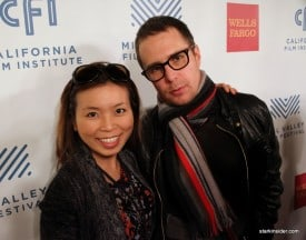 Loni Kao Stark and Sam Rockwell - color matched, but not scarf matched.