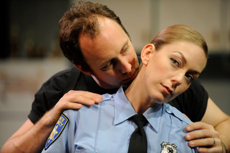 Will Springhorn Jr.* and Allison F. Rich in the the Regional Premiere of Reasons To Be Pretty at San Jose Stage Company (left to right). Photo by Dave Lepori.