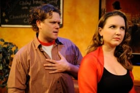 Robert Brewer* and Halsey Varady in the the Regional Premiere of Reasons To Be Pretty at San Jose Stage Company (left to right). Photo by Dave Lepori.