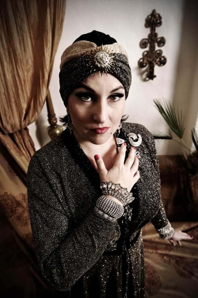 Annmarie Martin plays Norma Desmond in Andrew Lloyd Weber's Sunset Boulevard. Photo by Joyce Goldschmid.