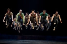Cody Green as Riff and The Jets from the Broadway Company  Photo by Joan Marcus