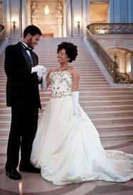 Cinderella (Khamara Pettus) Finally Meets Her Prince Charming (Matt Jones) In African-American Shakespeare Company's Holiday Production Of Cinderella Photographer: Lance Huntley