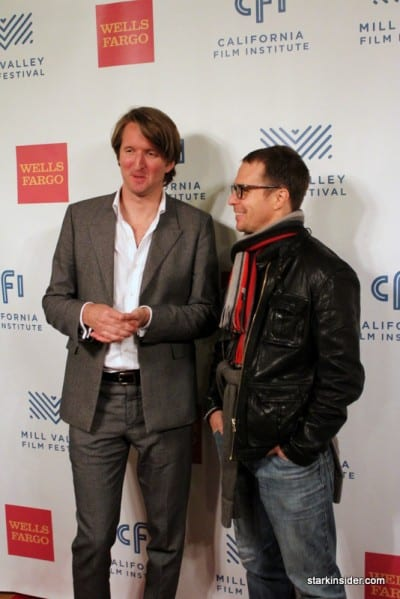 Director Tom Hooper (THE KING'S SPEECH) with Sam Rockwell (CONVICTION)