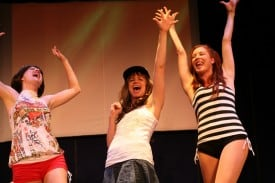 Alison Ewing, Molly Bell,  Carrie Madsen In the Fringe NYC production Photo credit: Dixie Sheridan