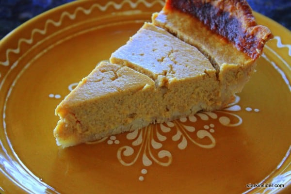 Pumpkin pie, the real McCoy