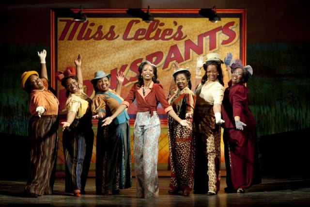 "The cast performs ""Mysterious Ways"" featuring Kadejah Oné (Church Soloist) and Phillip Brandon (Preacher) in Broadway San Jose presents THE COLOR PURPLE.. Photo by Scott Suchman."