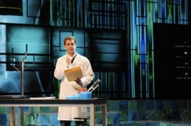 James Wagner in the Regional Premiere of the biomedical thriller Secret Order at San Jose Repertory Theatre.  Photo: Kevin Berne