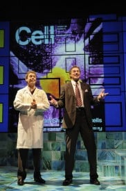 James Wagner and Robert Krakovski in the Regional Premiere of the biomedical thriller Secret Order at San Jose Repertory Theatre.  Photo: Kevin Berne
